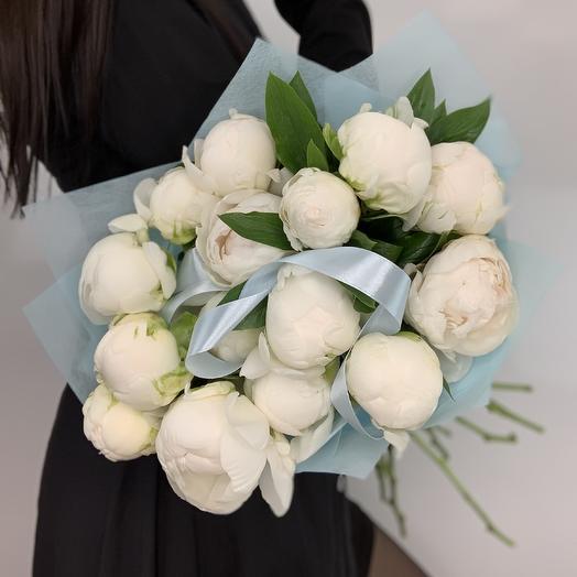 Букет с ароматными пионами: букеты цветов на заказ Flowwow