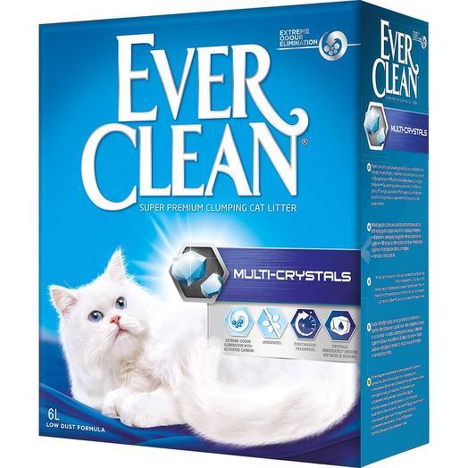Eve Clean Multi Crystals 10л. Комкующийся наполнитель для кошачьего туалета с мультикристаллами