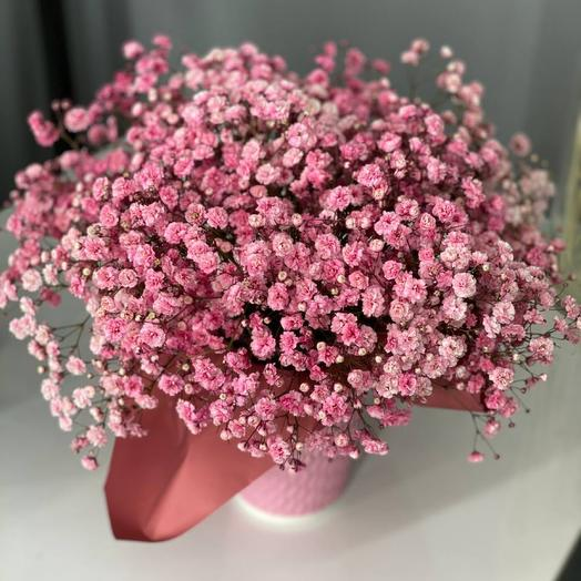 Розовая Цветочная вата