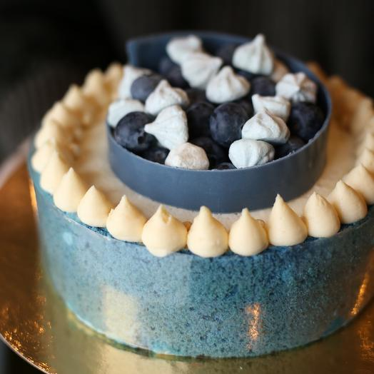Торт Черничный чизкейк (заварной бисквит, черничный кули, мусс чизкейк)