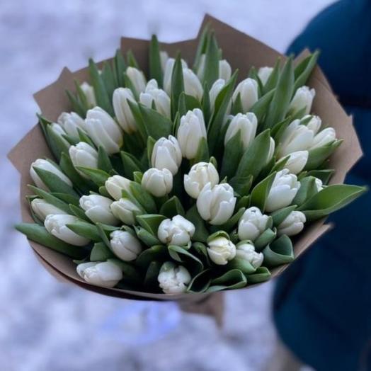 Букет из 45 тюльпанов