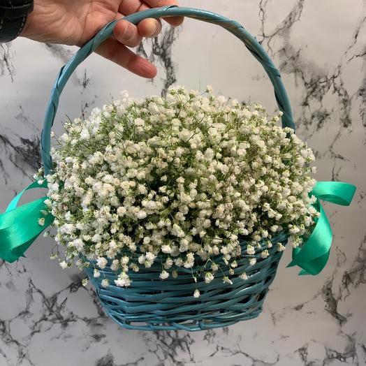 Корзина с цветами «Свежесть»
