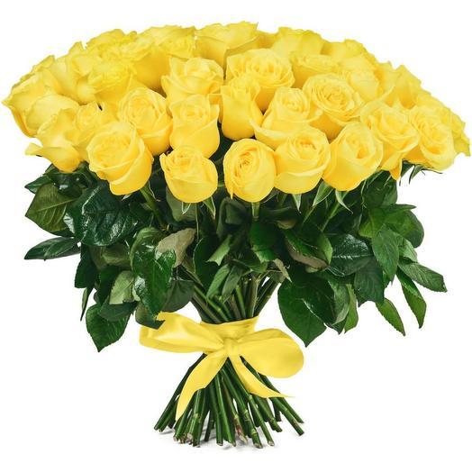 Букет из 51 желтой розы (60 см)