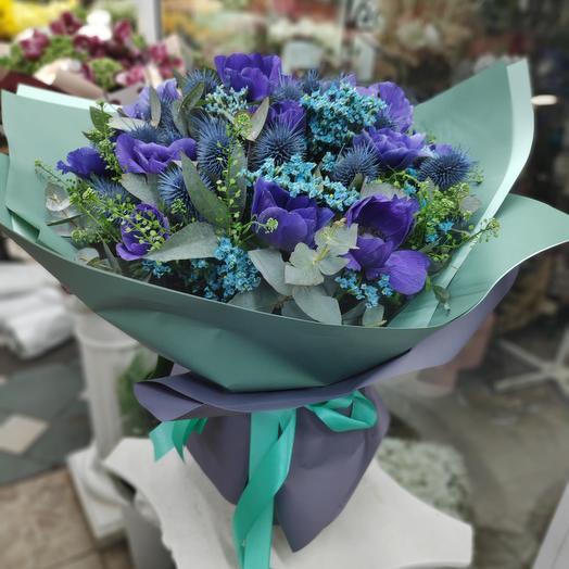 Букет цветов Синеглазка