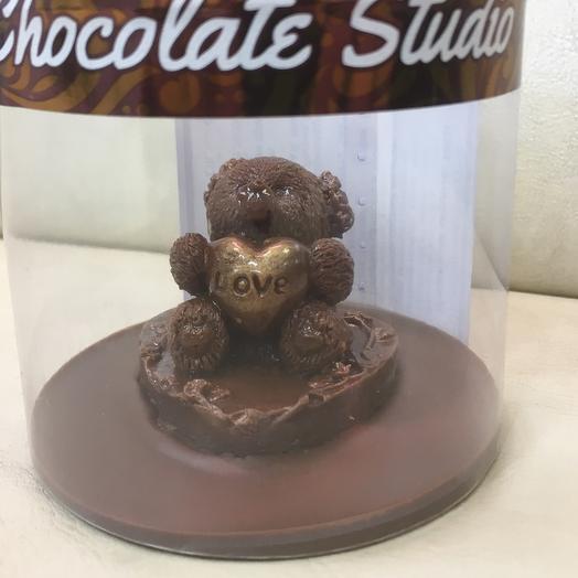 Шоколадный мишка с сердечком