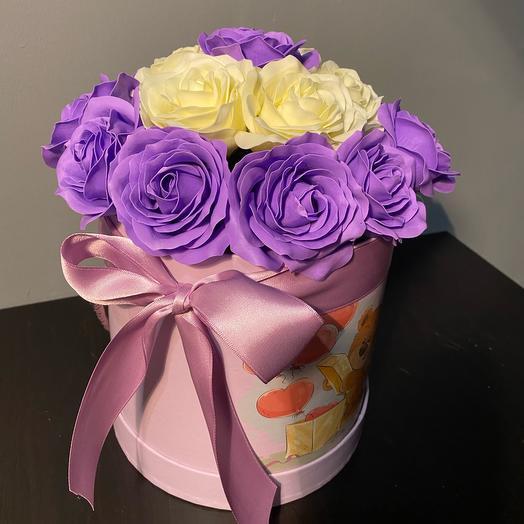 Мыльные цветы в коробке