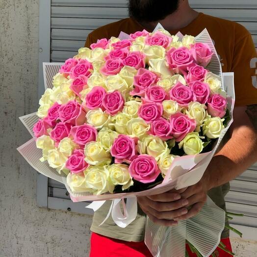 Роза Аква +аваланж 71 шт