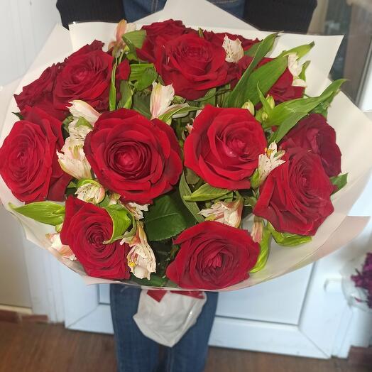 Альстромерии и Розы