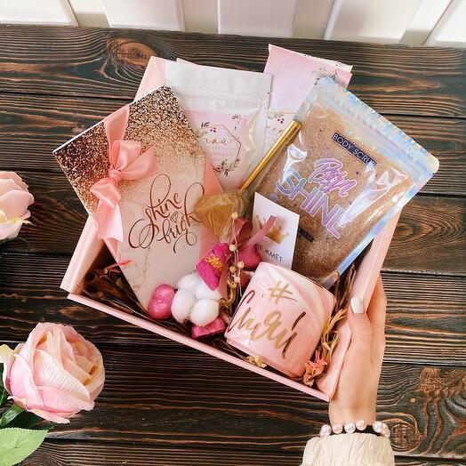 Женский подарок девушке «Shine Bright» / Подарочный набор на день рождения и любой праздник