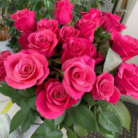 17 роз+лента