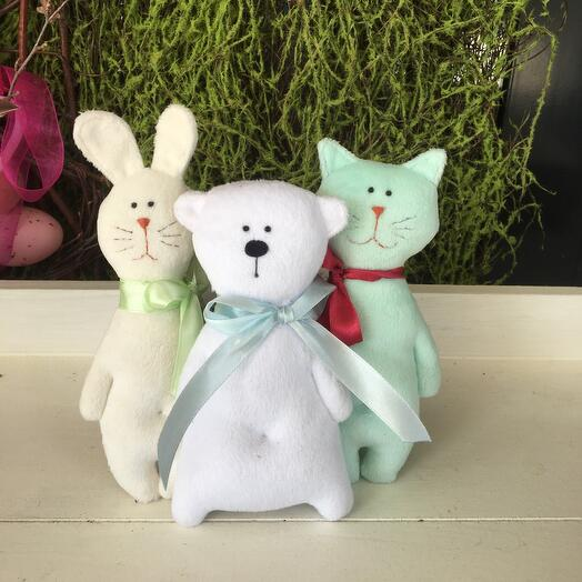 Зефирные игрушки (Зайчик, Мишка, Котик) Стоимость  указана за 1 ИГРУШКУ