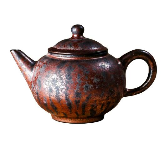 мастеровой чайник ручной работы, красная глина с глазурью, 180 мл, Тайвань 1 шт