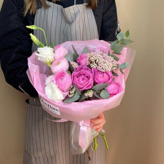 Букет из цветов «Розовый»