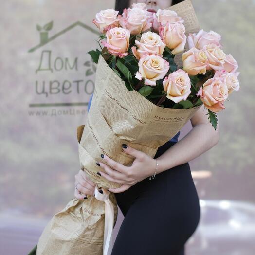 """Метровые розы 15 шт. """"Шимер"""""""