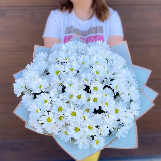 Monobucket of chrysanthemums