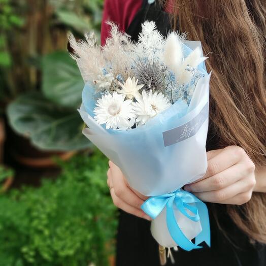 Букет из сухоцветов Голубой