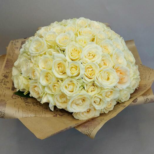 101 белая роза ✅