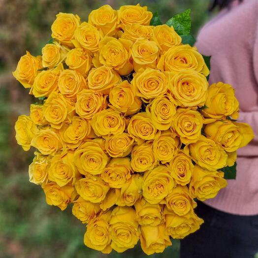 Роза Эквадор 80 см 51 шт