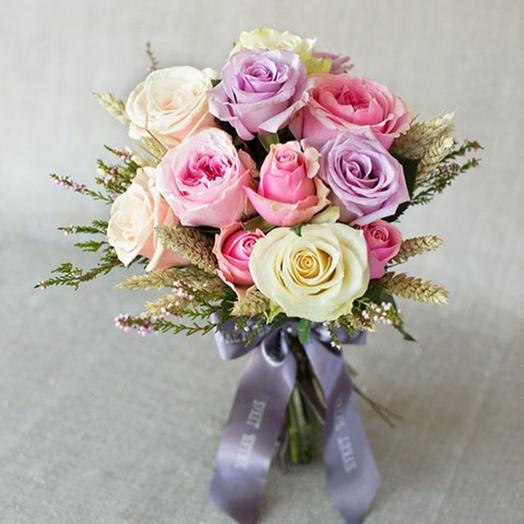 Моно-букет из роз Прованс: букеты цветов на заказ Flowwow