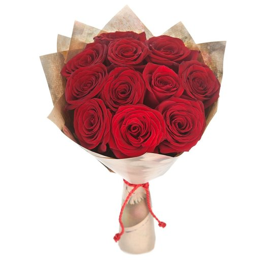 Букет из красных роз в крафте: букеты цветов на заказ Flowwow