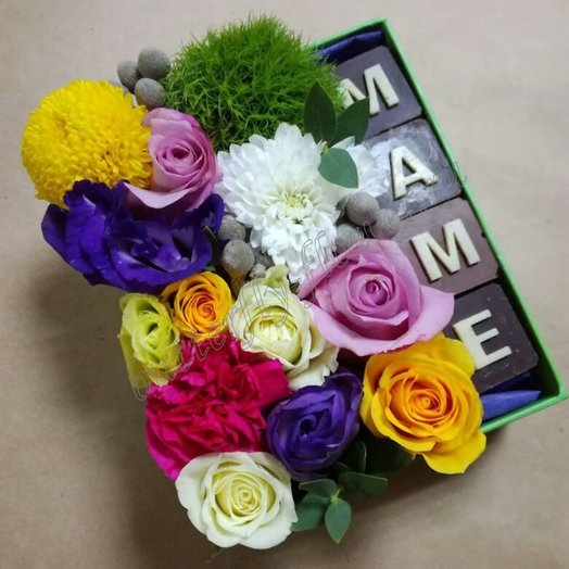 Маме (Коробочка 100): букеты цветов на заказ Flowwow