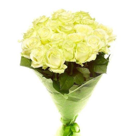 Букет из 25 роз Белые: букеты цветов на заказ Flowwow