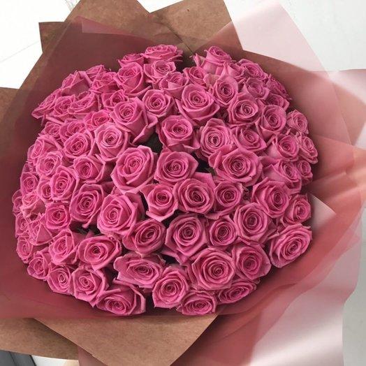 79 розовых роз: букеты цветов на заказ Flowwow