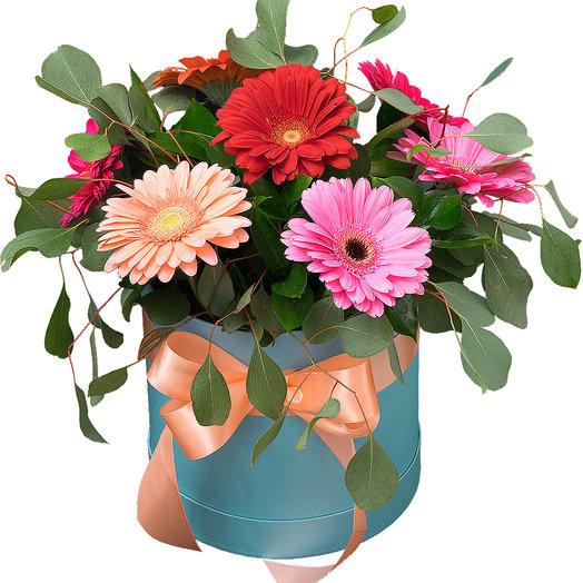Коробочка с герберами: букеты цветов на заказ Flowwow
