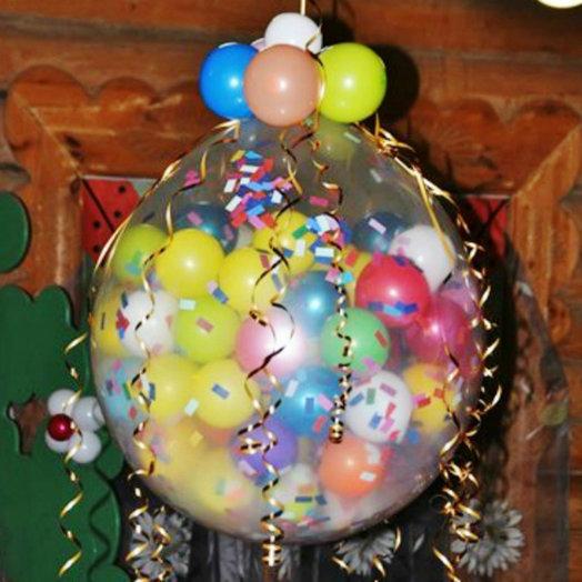 Метровый шар-гигант: букеты цветов на заказ Flowwow