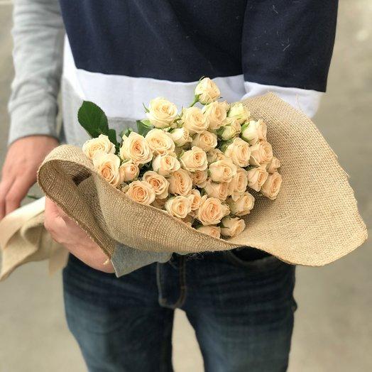 Кустовая роза 50 см.11 шт. N176: букеты цветов на заказ Flowwow