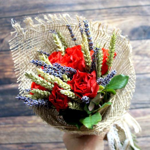 Мини букет из оз и пшеницы: букеты цветов на заказ Flowwow