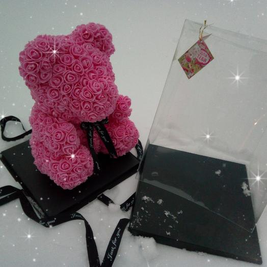 Мишка из роз Франция: букеты цветов на заказ Flowwow