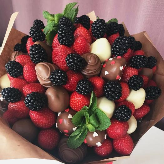 Клубничный букет «ежевика»: букеты цветов на заказ Flowwow