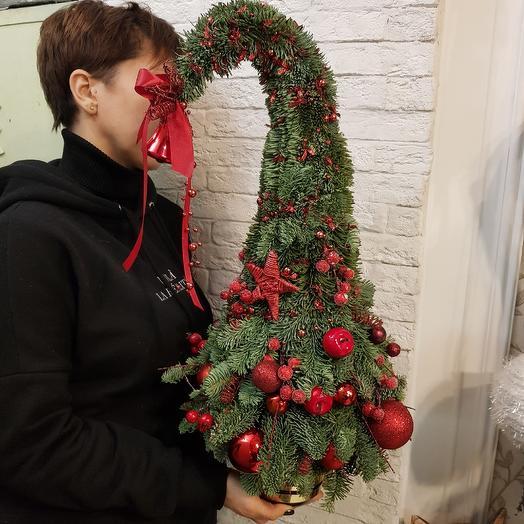 Дизайнерская новогодняя ёлка: букеты цветов на заказ Flowwow