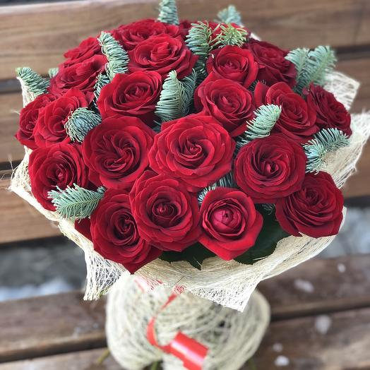 25 roses with registration: flowers to order Flowwow