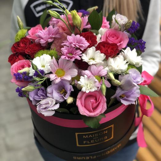 Композиция в коробке из микс цветов: букеты цветов на заказ Flowwow