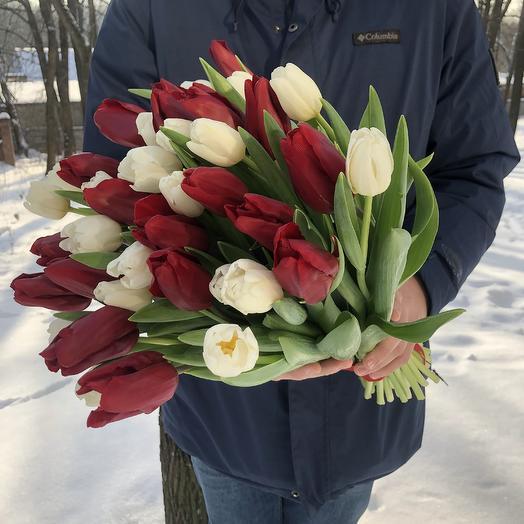 39 тюльпанов: букеты цветов на заказ Flowwow