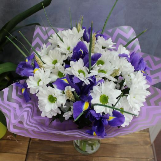 "Bouquet of irises ""meadow tenderness"""