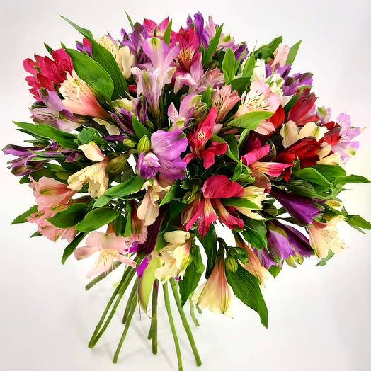 Конфетти: 21 альстромерия микс: букеты цветов на заказ Flowwow