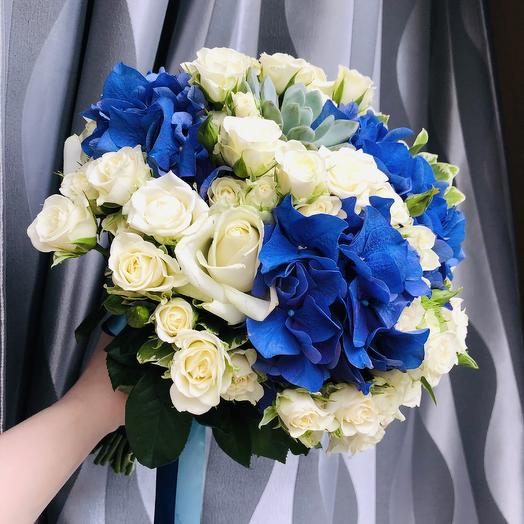Букет невесты «Blue eyes»: букеты цветов на заказ Flowwow