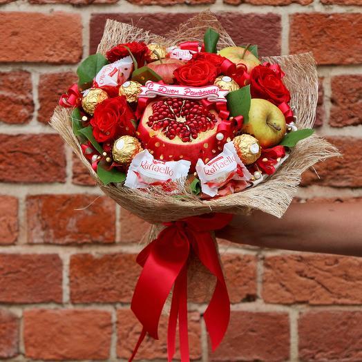 Фруктовая страсть: букеты цветов на заказ Flowwow