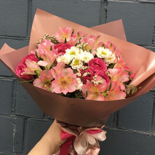 Букет «Розовый фламинго»: букеты цветов на заказ Flowwow