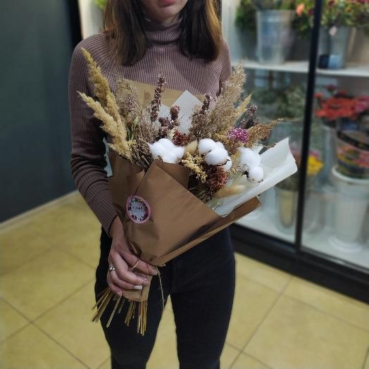 Bouquet of dried flowers: flowers to order Flowwow