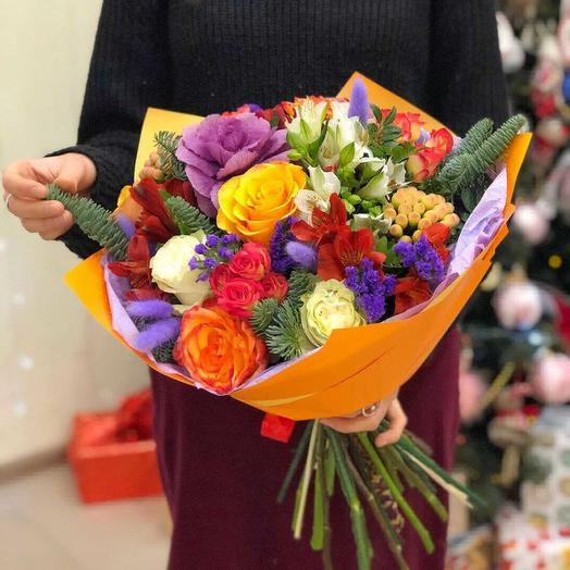 Веселая зима: букеты цветов на заказ Flowwow