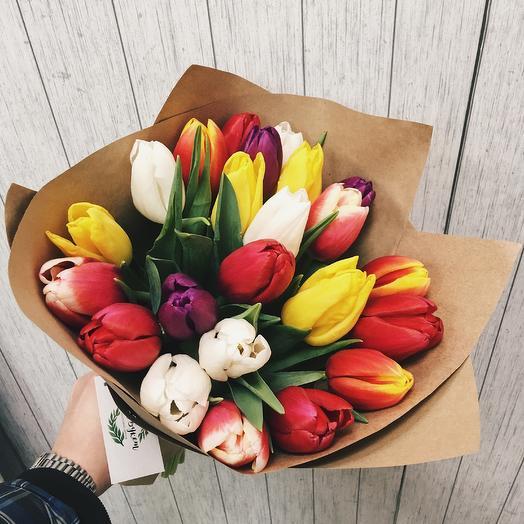 25 тюльпанов микс любимой