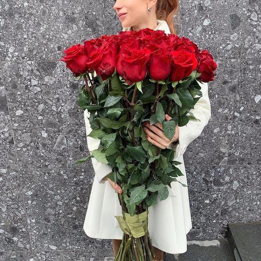 25 Ecuador beautiful long stemmed roses