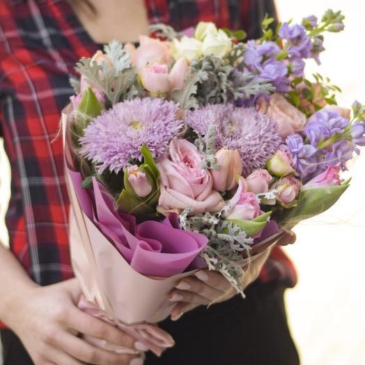Гармония фиолета: букеты цветов на заказ Flowwow