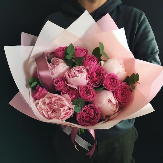 Пионы с пионовидными розами 🌿