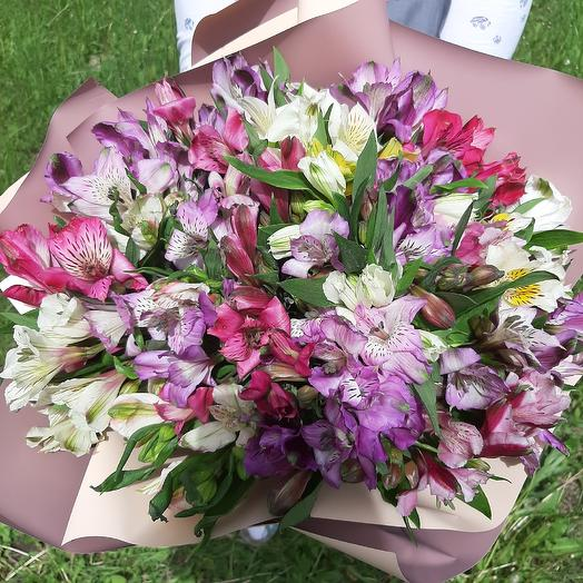 Монобукет из альстромерии: букеты цветов на заказ Flowwow