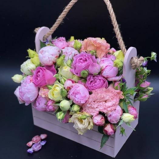 Корзина Волшебный вечер: букеты цветов на заказ Flowwow